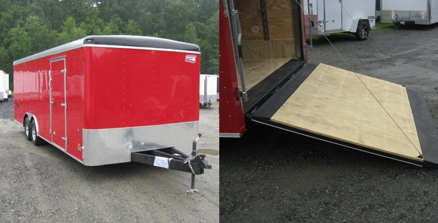 Enclosed Heavy Duty Landscape Trailer With US Patented Ramp Design - Enclosed / Landscaping Trailers - Performance Trailer