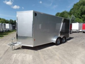 Aluminum Frame 7ft by 16 ft Enclosed Cargo Pro Trailer - Performance